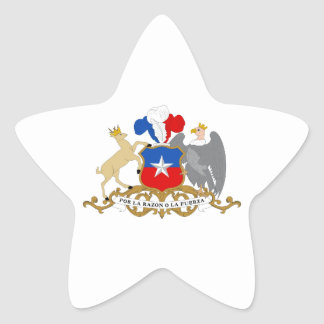 Escudo de armas de Chile Pegatina En Forma De Estrella