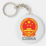 Escudo de armas de China Llavero Personalizado