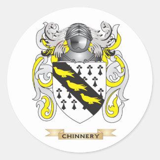 Escudo de armas de Chinnery Pegatina Redonda