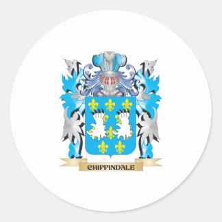 Escudo de armas de Chippindale - escudo de la Etiquetas Redondas