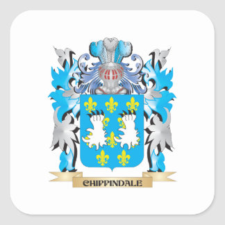 Escudo de armas de Chippindale - escudo de la Calcomanias Cuadradas