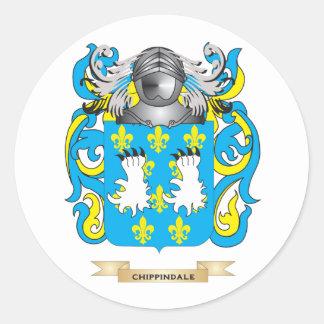 Escudo de armas de Chippindale Etiqueta Redonda