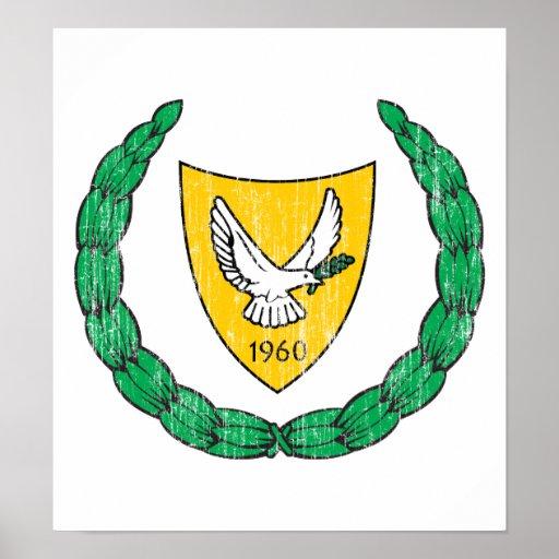 Escudo de armas de Chipre Impresiones