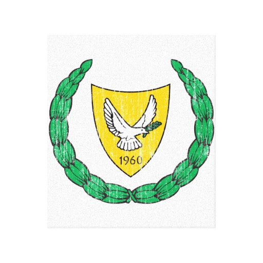 Escudo de armas de Chipre Lienzo Envuelto Para Galerias