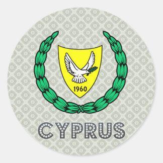 Escudo de armas de Chipre Pegatina Redonda