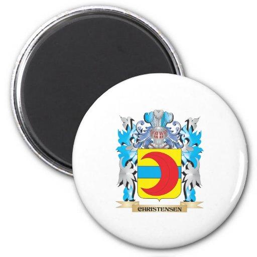 Escudo de armas de Christensen- - escudo de la fam Imán Para Frigorifico