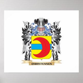 Escudo de armas de Christensen - escudo de la Póster