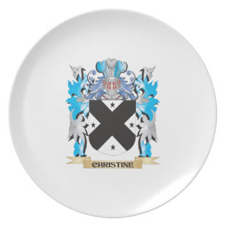 Escudo de armas de Christine - escudo de la famili