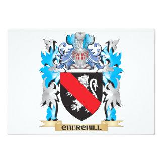 Escudo de armas de Churchill - escudo de la Invitación 12,7 X 17,8 Cm