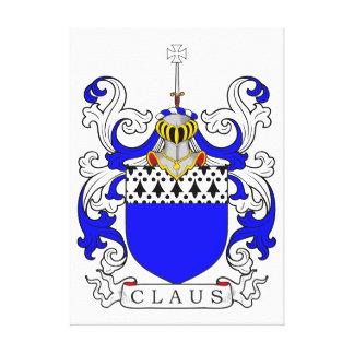 Escudo de armas de Claus (inglés) Impresión En Lienzo