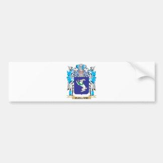 Escudo de armas de Clelland - escudo de la familia Pegatina Para Auto