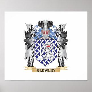 Escudo de armas de Clewley - escudo de la familia Póster