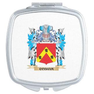 Escudo de armas de Cobham - escudo de la familia Espejo Compacto