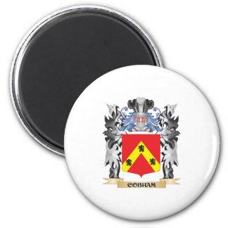 Escudo de armas de Cobham - escudo de la familia Imán Redondo 5 Cm