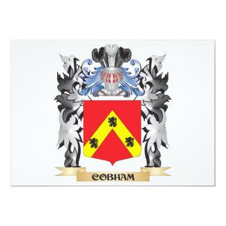 """Escudo de armas de Cobham - escudo de la familia Invitación 5"""" X 7"""""""