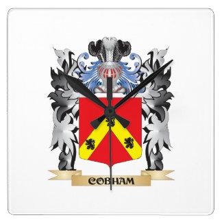 Escudo de armas de Cobham - escudo de la familia Reloj Cuadrado