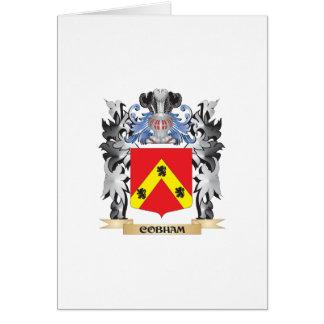 Escudo de armas de Cobham - escudo de la familia Tarjeta De Felicitación