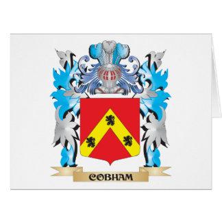 Escudo de armas de Cobham - escudo de la familia Tarjeta De Felicitación Grande