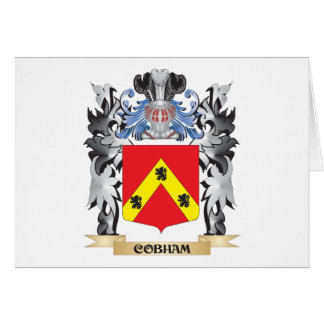 Escudo de armas de Cobham - escudo de la familia Tarjeta Pequeña
