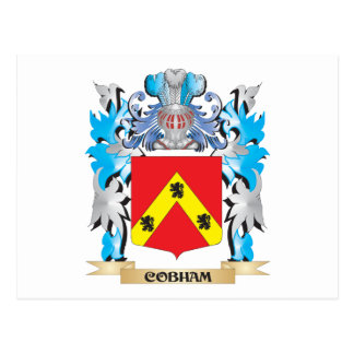 Escudo de armas de Cobham - escudo de la familia Tarjetas Postales