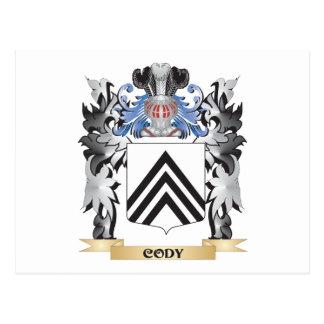 Escudo de armas de Cody - escudo de la familia Tarjetas Postales