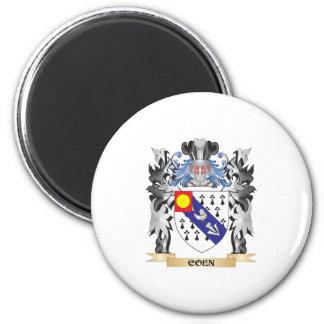 Escudo de armas de Coen - escudo de la familia Imán Redondo 5 Cm