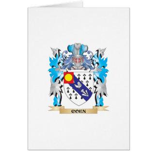 Escudo de armas de Coen - escudo de la familia Felicitacion