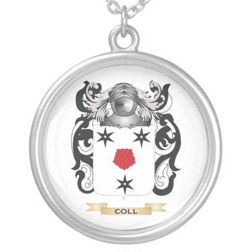 Escudo de armas de Coll Colgante Redondo