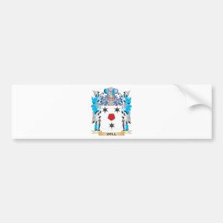 Escudo de armas de Coll - escudo de la familia Pegatina Para Auto