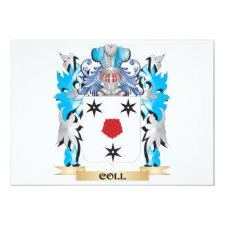 """Escudo de armas de Coll - escudo de la familia Invitación 5"""" X 7"""""""