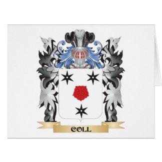 Escudo de armas de Coll - escudo de la familia Tarjeta De Felicitación Grande