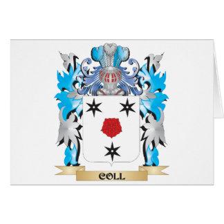 Escudo de armas de Coll - escudo de la familia Tarjeta De Felicitación