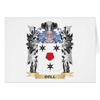 Escudo de armas de Coll - escudo de la familia Tarjeta Pequeña