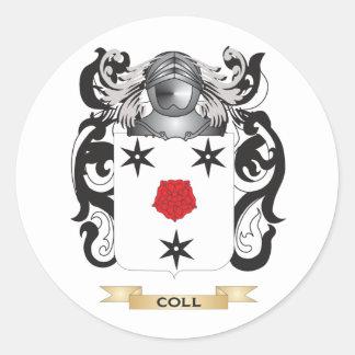 Escudo de armas de Coll Pegatina Redonda