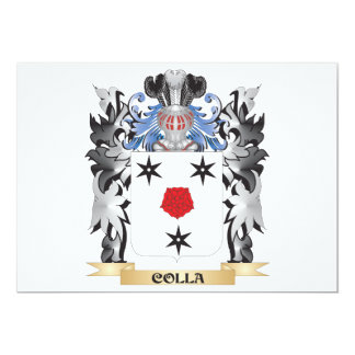 """Escudo de armas de Colla - escudo de la familia Invitación 5"""" X 7"""""""