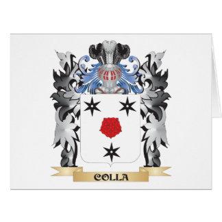 Escudo de armas de Colla - escudo de la familia Tarjeta De Felicitación Grande