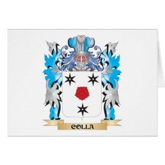 Escudo de armas de Colla - escudo de la familia Tarjeta Pequeña