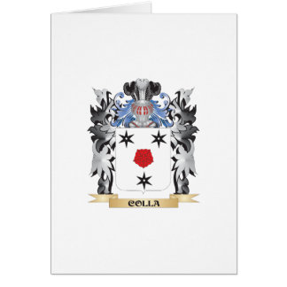Escudo de armas de Colla - escudo de la familia Tarjeta De Felicitación