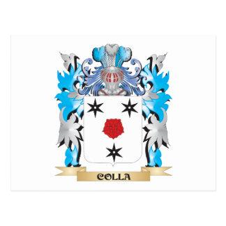 Escudo de armas de Colla - escudo de la familia Tarjetas Postales