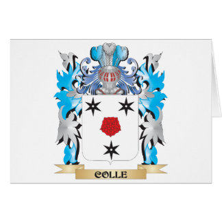 Escudo de armas de Colle - escudo de la familia Tarjeta De Felicitación