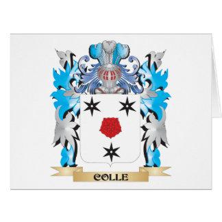 Escudo de armas de Colle - escudo de la familia Tarjeta De Felicitación Grande
