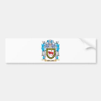 Escudo de armas de Colles - escudo de la familia Pegatina Para Auto