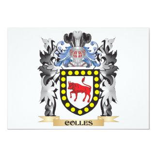 """Escudo de armas de Colles - escudo de la familia Invitación 5"""" X 7"""""""