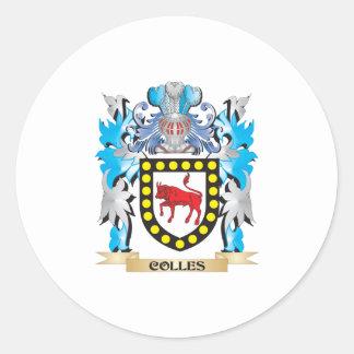 Escudo de armas de Colles - escudo de la familia Pegatina Redonda