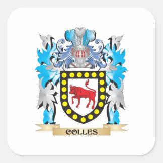 Escudo de armas de Colles - escudo de la familia Pegatina Cuadrada