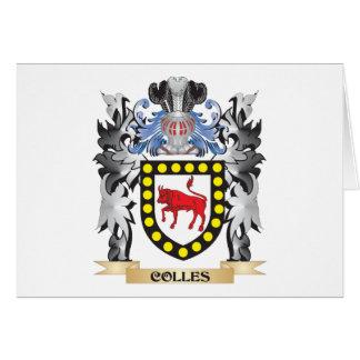 Escudo de armas de Colles - escudo de la familia Tarjeta Pequeña