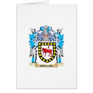 Escudo de armas de Colles - escudo de la familia Tarjeta De Felicitación