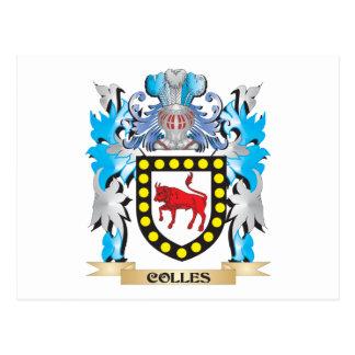 Escudo de armas de Colles - escudo de la familia Postal
