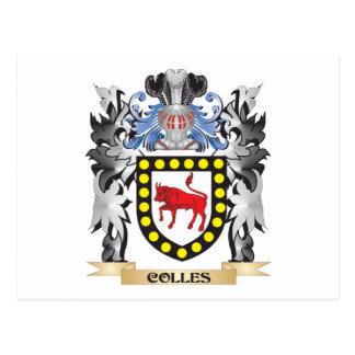 Escudo de armas de Colles - escudo de la familia Tarjeta Postal