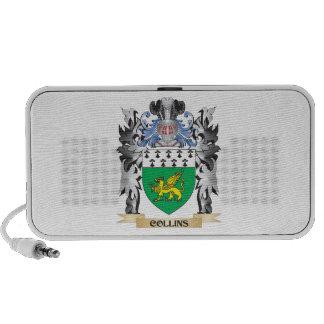 Escudo de armas de Collins - escudo de la familia iPod Altavoces